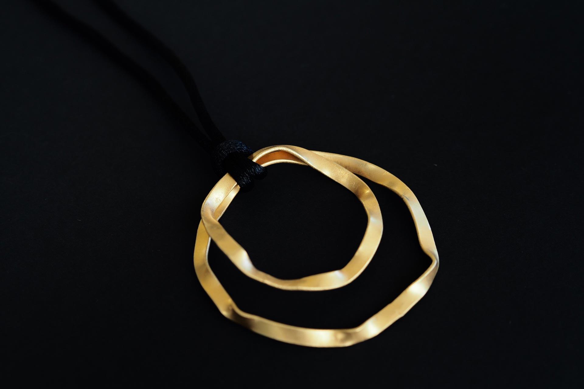 Organic Double Pendant Necklace